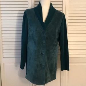 Linea by Louis Dell'Olio Turquoise Suede Jacket
